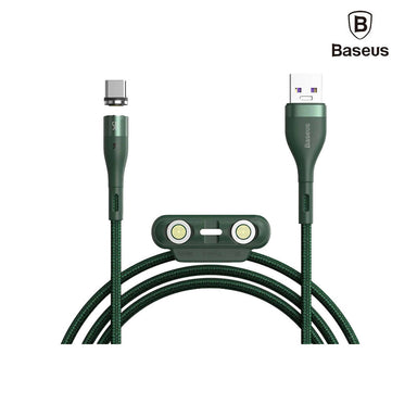 Baseus Zinc Magnetic Safe Fast Charging Data Cable USB To M+L+C - CA1T3-B06