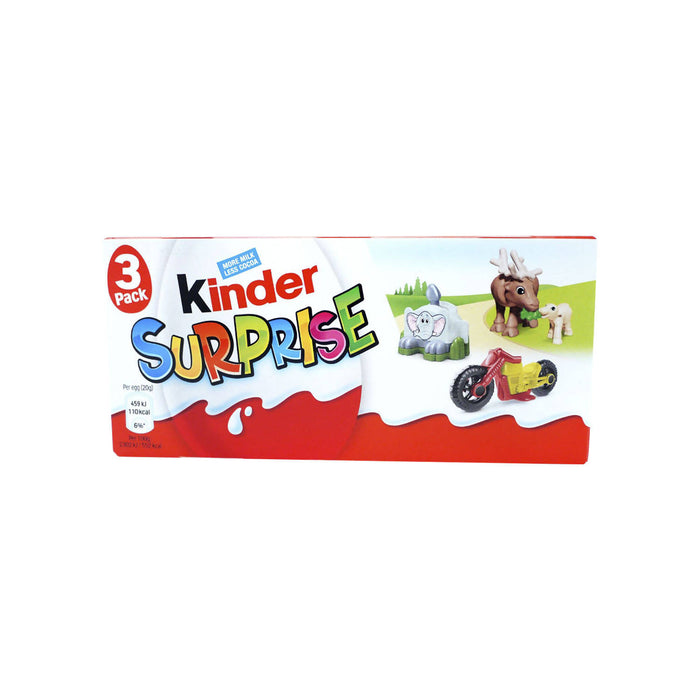 Kinder Surprise Chocolate Classic, 60g - Pack of 4
