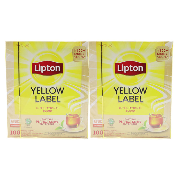 Lipton Tea Bag Yellow Original 200g, Pack of 2