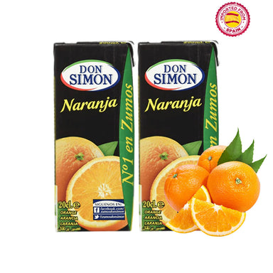 Don Simon Orange (Naranja) Juice 20cl, Pack of 2
