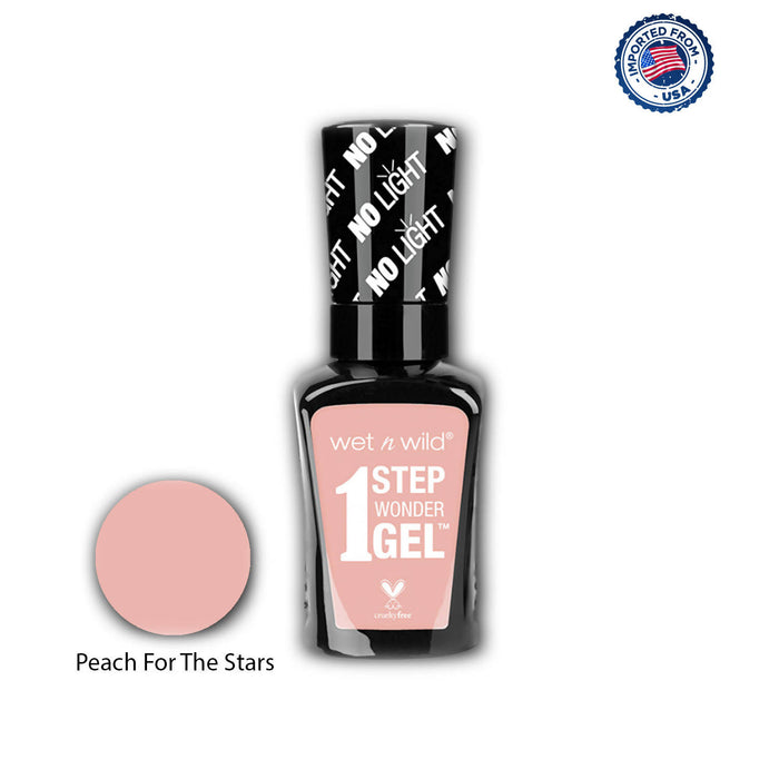 Wet N Wild 1 Step Wonder Gel Nail Color - Peach For The Stars