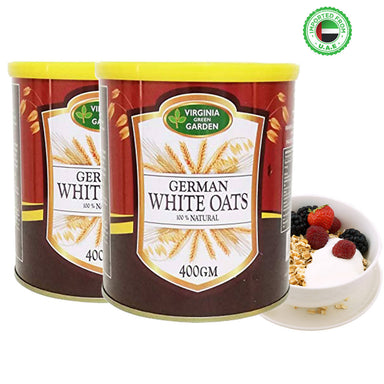 Virginia Green Garden German White Oats 400g, Pack of 2
