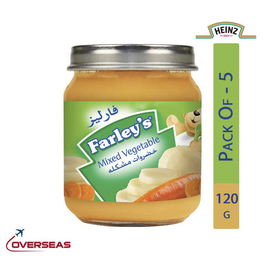 Heinz Farley's Mixed Vegetables Puree Jar, 120g - Pack Of 5