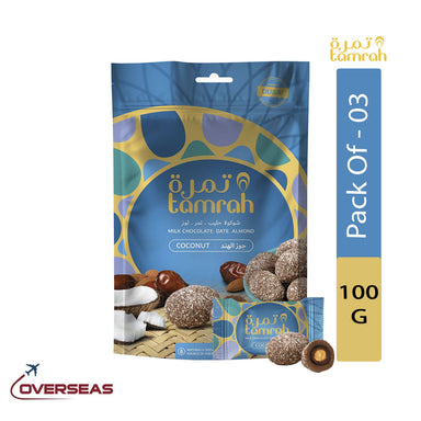 Tamrah Coconut Chocolate Zipper Bag, 100g - Pack Of 3