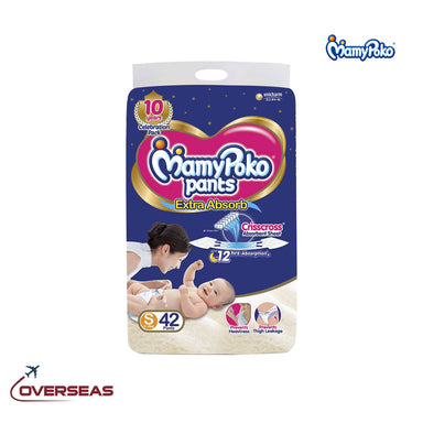 Mamypoko Diaper Pants Extra Absorb 4-8 Kg, Size S - 42pcs