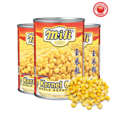 Mili Whole Kernel Corn 425g, Pack of 3