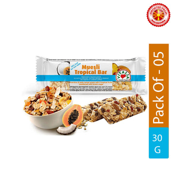 Vitalia Muesli Tropical Bar, 30g - Pack of 5
