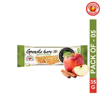 Vitalia Granola Bar Apple And Cinnamon 35 g, Pack of 5