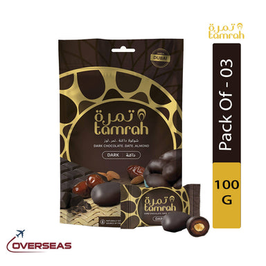 Tamrah Dark Chocolate Zipper Bag, 100g - Pack Of 3