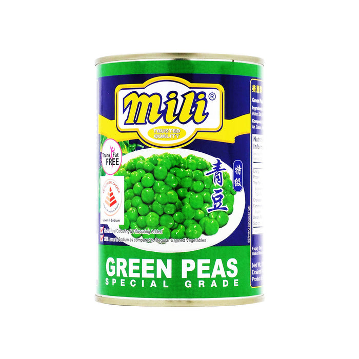 Mili green peas 397g, Pack of 2
