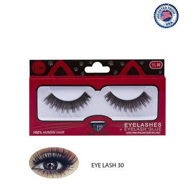 J.Cat Beauty Eyelashes+Eyelash Glue - EL30