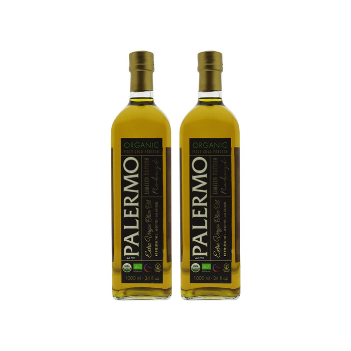 Palermo Organic Extra Virgin Olive Oil - 1 LTR, Pack of 2
