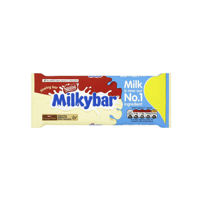 Nestle Milkybar White Chocolate Bar, 100g - Pack of 3