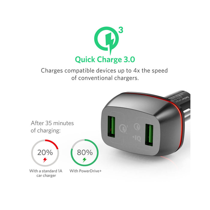 Anker PowerDrive+ 2 with Quick Charge 3.0 with Offline Packaging V3