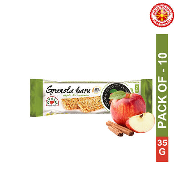 Vitalia Granola Bar Apple And Cinnamon 35 g, Pack of 10
