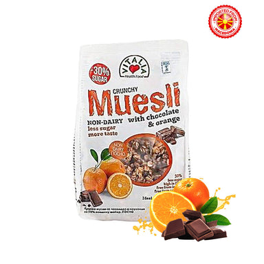Vitalia Crunchy Muesli With Orange & Chocolate, 320 g