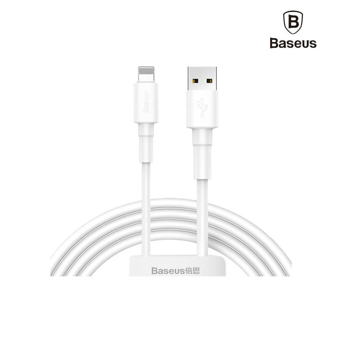 Baseus Mini White Cable USB For iPhone 2.4A - CALSW-02