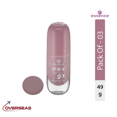 Essence Shine Last & Go Gel Nail Polish 08, 49g - Pack of 03