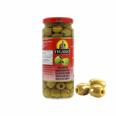 Figaro Green Olive Pitted, 340g