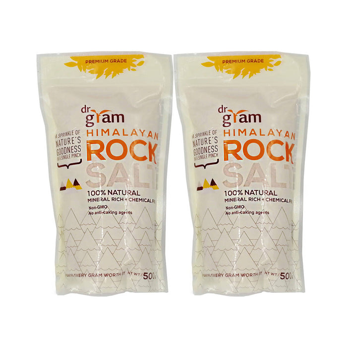Dr Gram Himalayan Rock Fine Salt 500g, Pack of 2