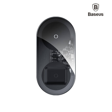 Baseus Simple 2 In 1 Wireless Charger 18W Max For Phones + Pods Special Edition Transparent - WXJK-A01