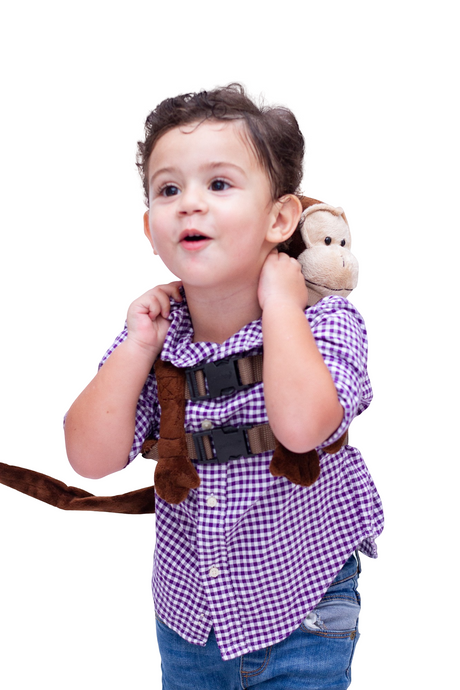 Chimp Boy Stuffed Animal Harness
