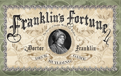 Franklin's Fortune Deck Building Game - Free Shipping !!!!