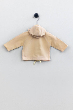Baby hooded cardigan | Onion/Avocado
