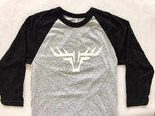 RAGLAN GREY/BLACK UNISEX