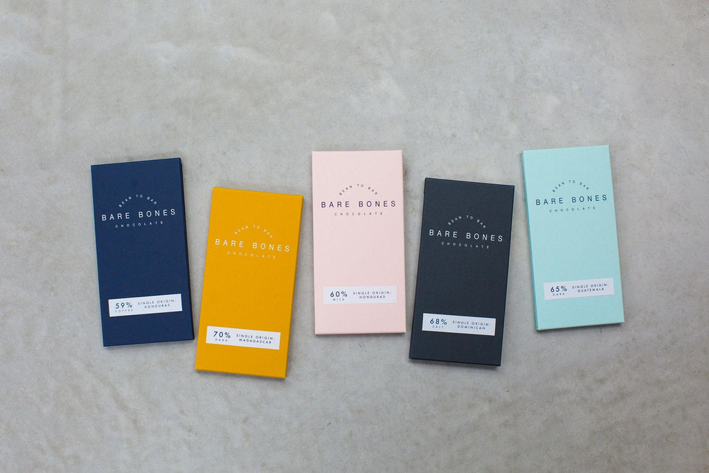 The Full Five Bar Collection - Bare Bones Chocolate