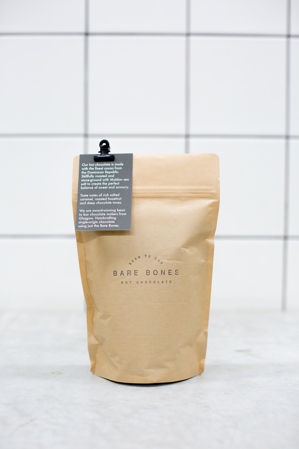 Limited Edition 68% Dominican Republic Salted Hot Chocolate 250g - Bare Bones Chocolate
