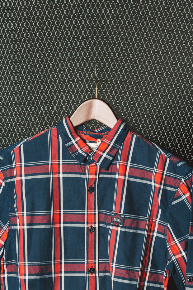 CHARLIE CHECK L/S SHIRT NAVY CHECK