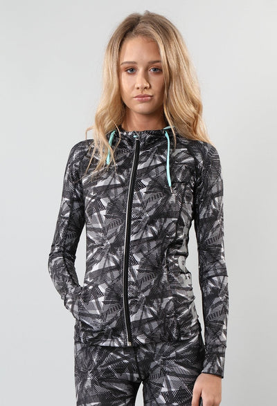 KALI PRINTED ZIPPER GREY PRINT