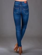 EDITH HIGH WAIST SKINNY MEDIUM BLUE WASH