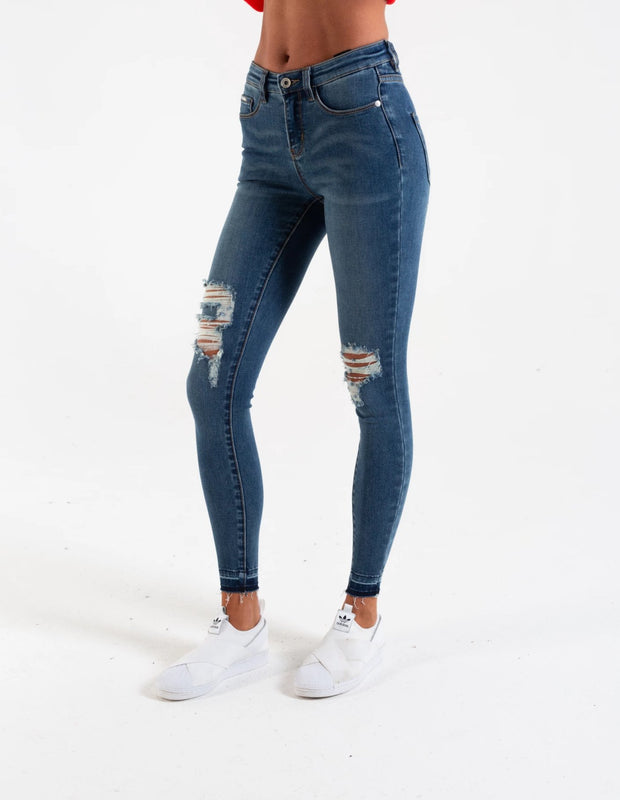 JASMINE CLASSIC WAIST SKINNY MEDIUM BLUE WASH