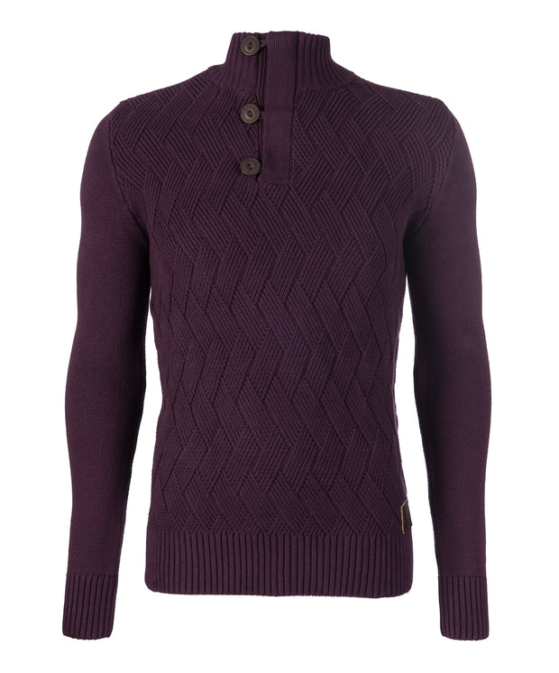 MICHAEL HALF ZIP PLUM