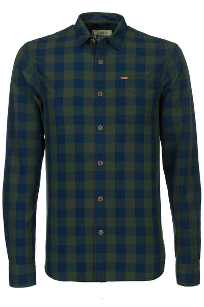 MITCHELL CHECK L/S SHIRT GREEN/NAVY CHECK