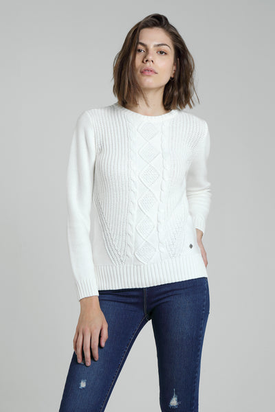 Daphne Cable Knit Marshmallow
