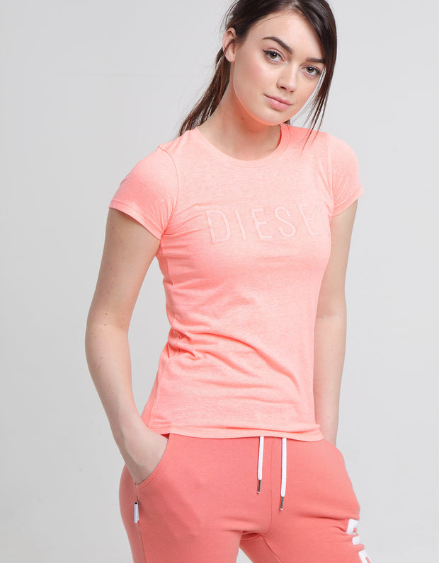 PIA TEE BURNT CORAL MEL