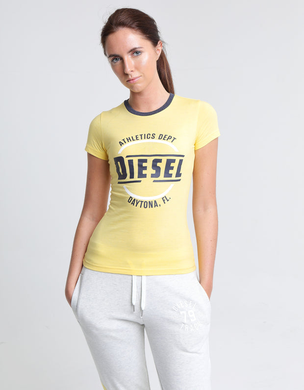 MARIEKE TEE YELLOW CREAM MEL