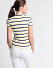 ANNELI TEE YELLOW CREAM STRIPE
