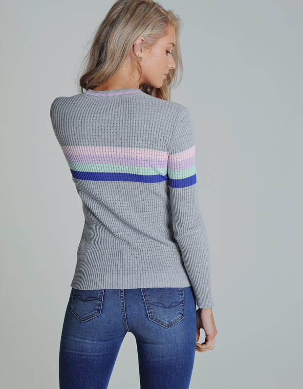 KAYLEE KNIT PEBBLE STRIPE