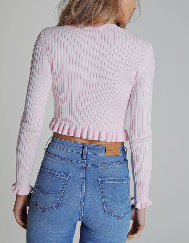 LEIA KNIT CRADLE PINK