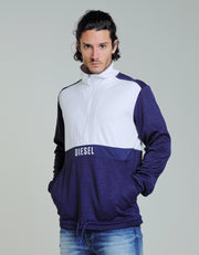JOSH HALF ZIP ECLIPSE BLUE