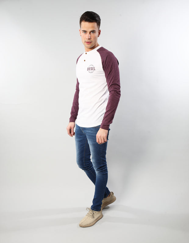 KENNEDY L/S HENLEY SHADOW PURPLE