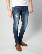 CAMERON SLIM DARK BLUE WASH