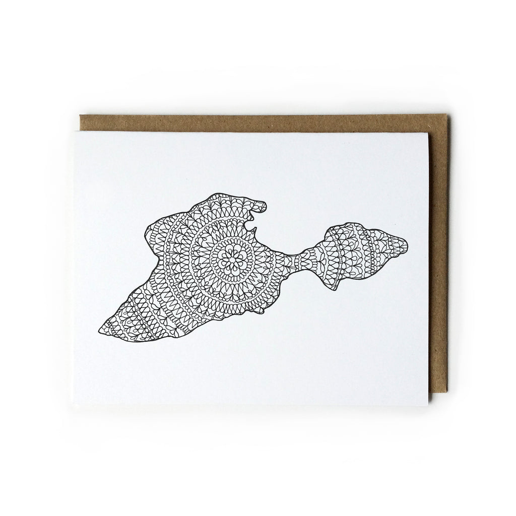 Black and White Put-in-Bay Card