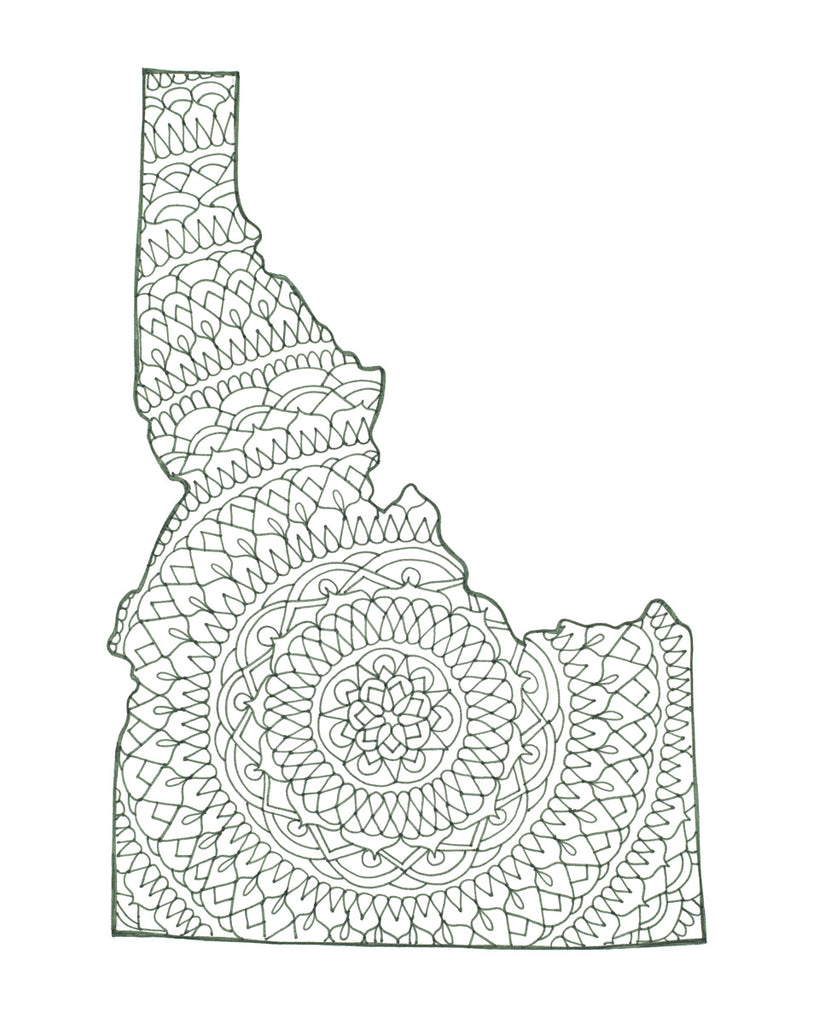 Idaho Green Mandala