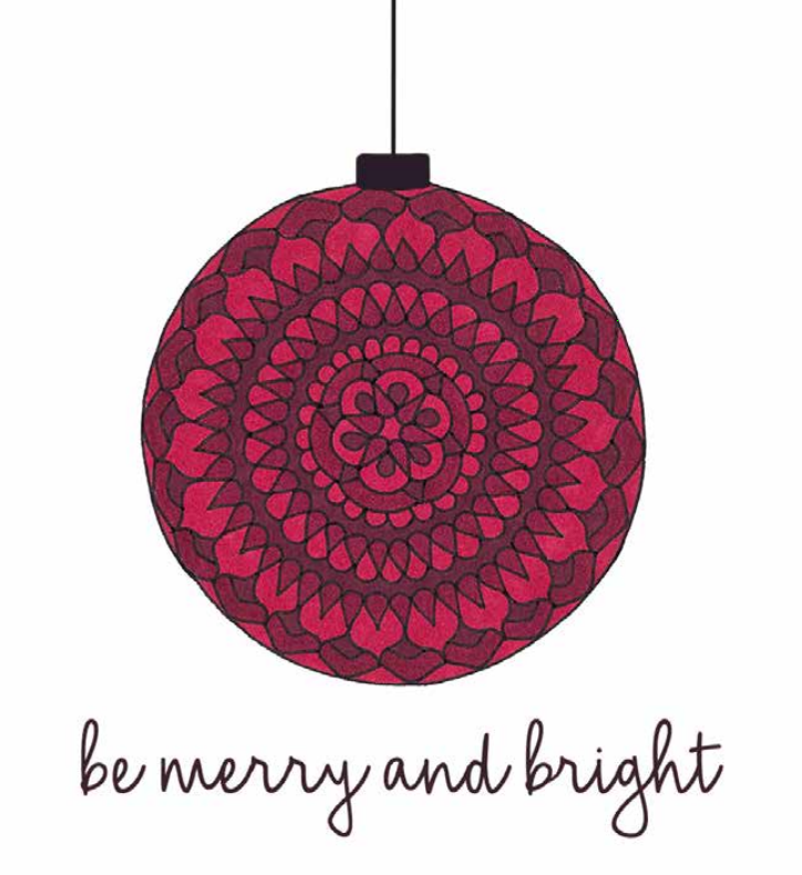Be Merry and Bright Square Card