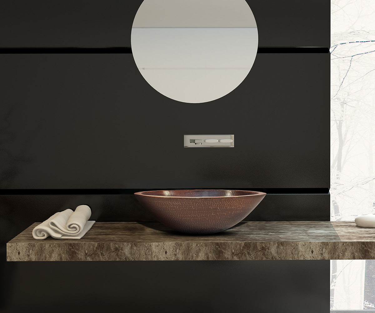 Lavabo Vessel Ovalado con Doble Pared